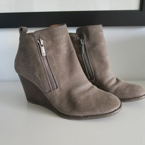 Lucky Brown Leather/Suede Booties